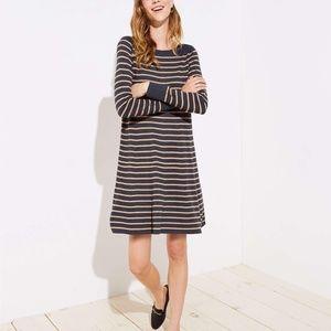 LOFT Striped Swing Sweater Dress